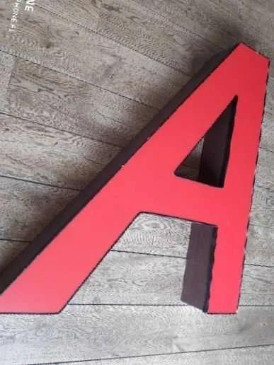 Rode letterlamp A 3