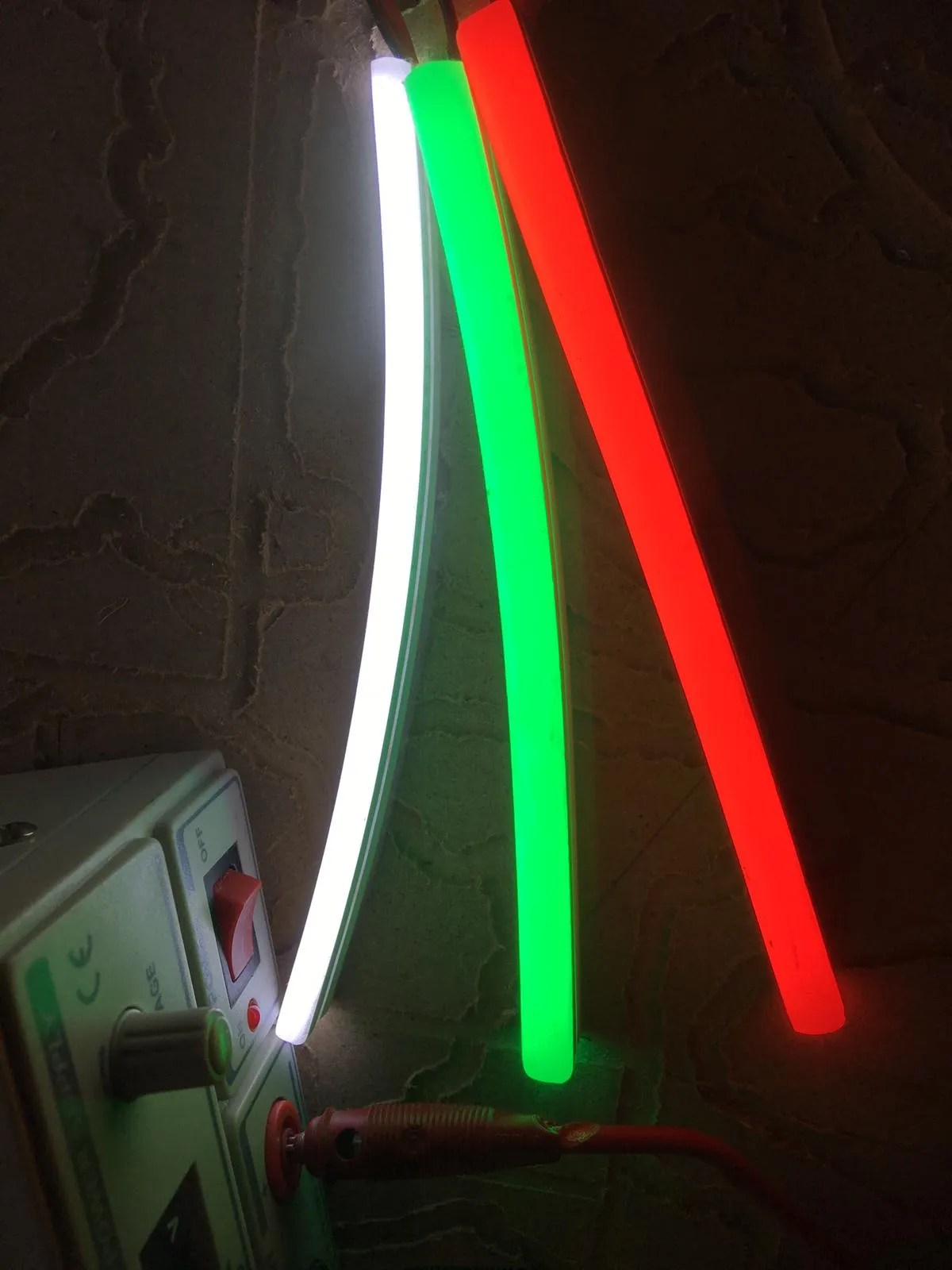 LED NEON Detail, zicht op kleur