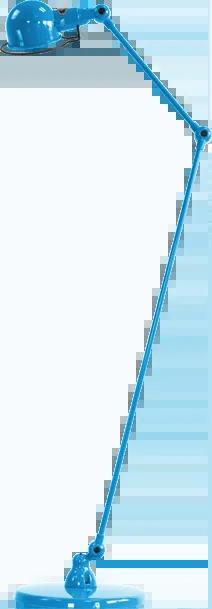 jielde-signal-SI833-vloerlamp-lichtblauw-RAL5012