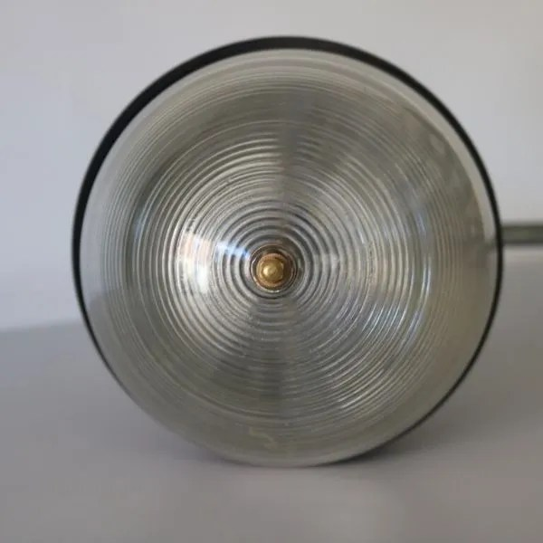 muurlamp koper glazen stolp arm vintage 5