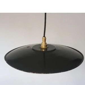 zwart donkerblauw geemailleerde hanglamp 03