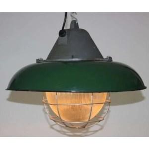 Geemailleerde XL hanglamp groen 01