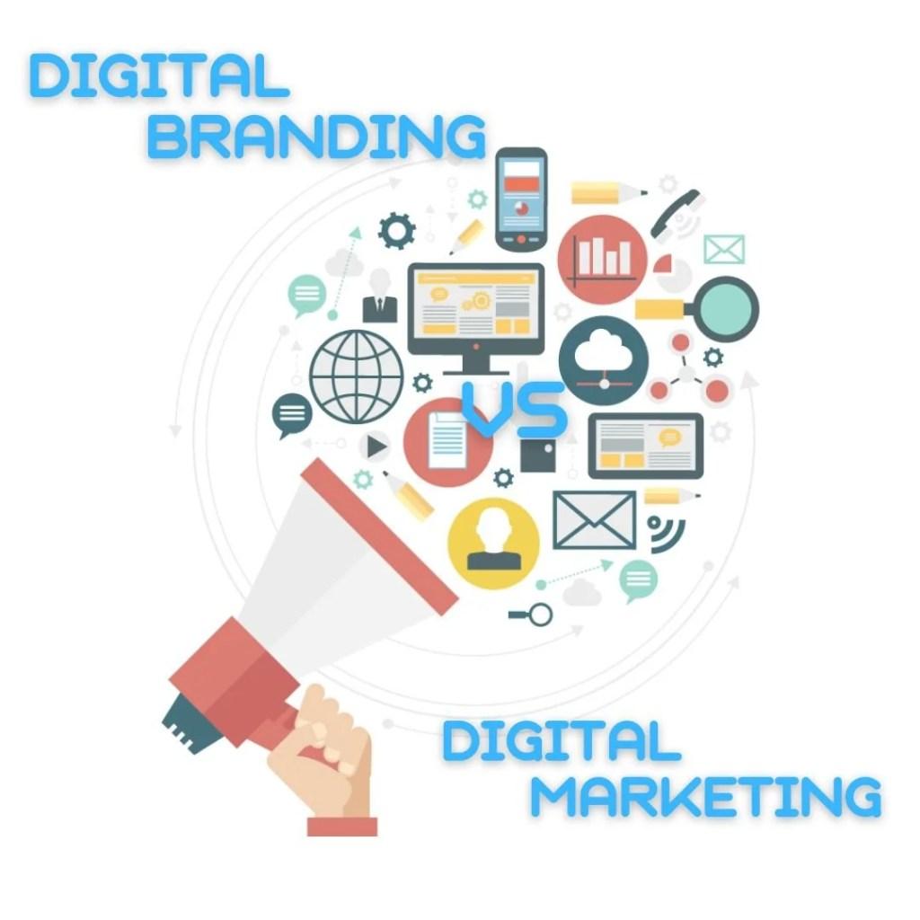 Digital Branding ψηφιακή εταιρική ταυτότητα έναντι Digital Marketing ψηφιακού μάρκετινγκ επωνυμία