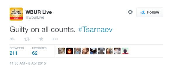 Dzhokhar Tsarnaev guilty