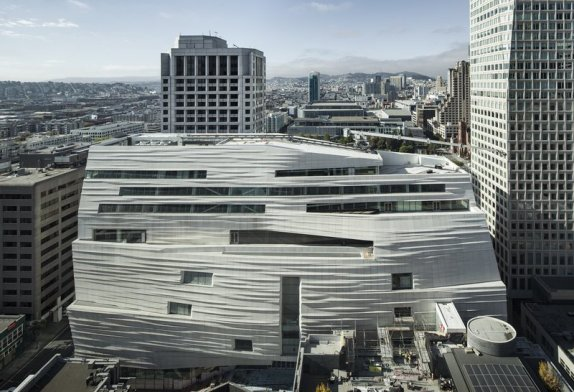 The renovated San Francisco Museum of Modern Art (SFMOMA) will open to the public on Saturday, May 14, 2016, offering nearly three times the previous exhibition space.