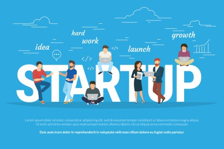 """An image that reads, """"startup."""""""