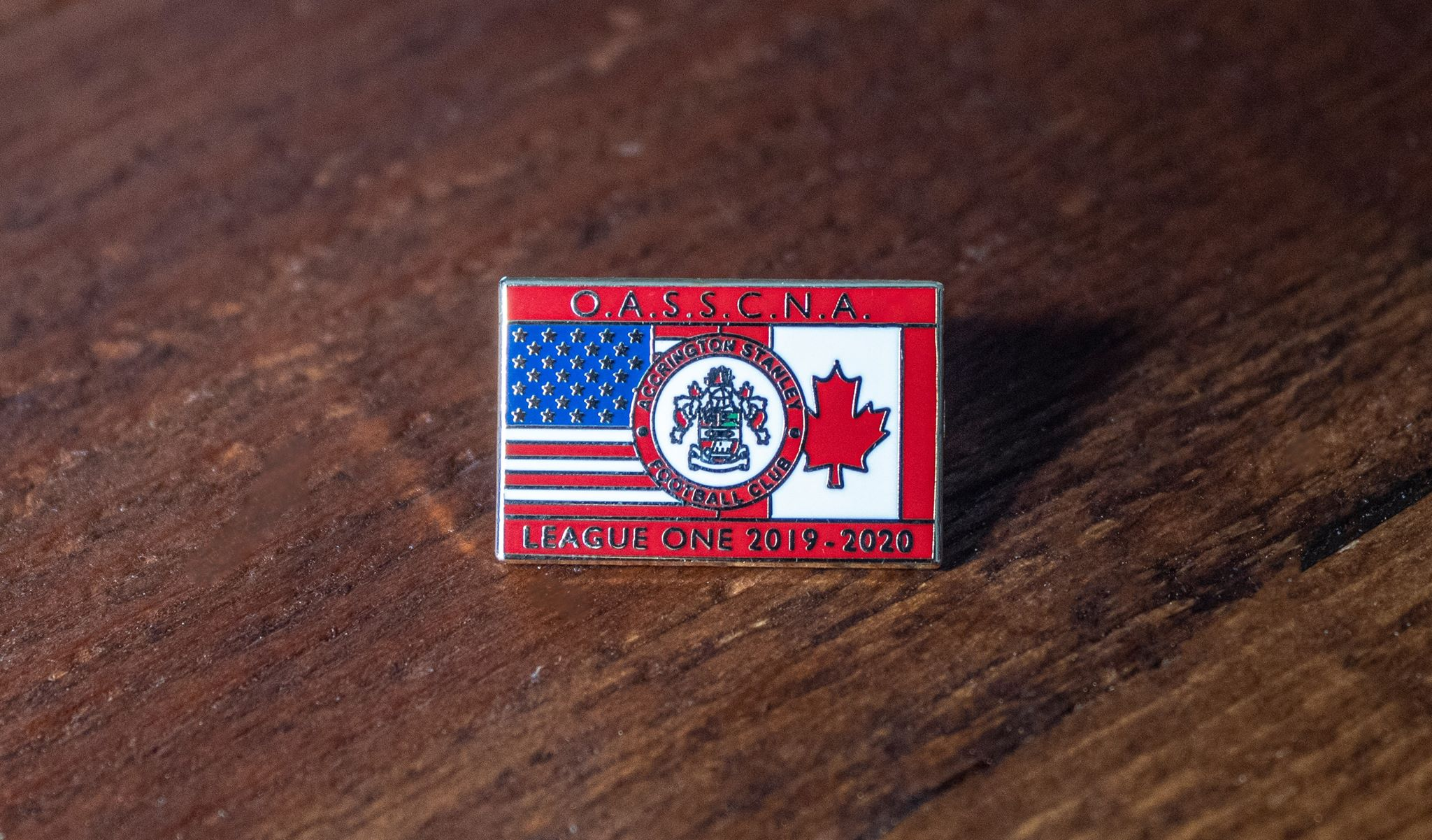 Official Accrington Stanley Supporters Club North America pin