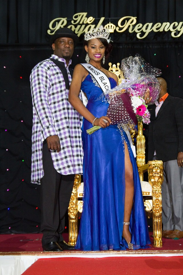 Jacqueline Ilumoka representing Nigeria as the Miss Africa UK 2014 winner