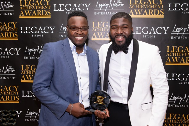 Icy Jones and Mr Legacy on the legacy achievement awards red carpet
