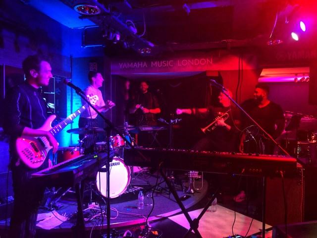 JJ Rosa & Her live band at Yamaha music London