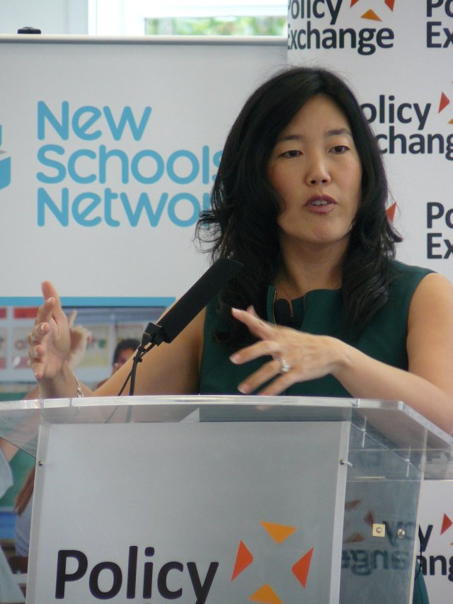 Flickr  :   StudentsFirst founder Michelle Rhee delivering her speech at Policy Exchange