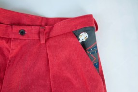 Terra pants (plus a little extra) in Mannine fabric