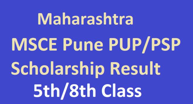MSCE Pune Scholarship Result 2021