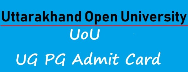 UK Open Univ Admit Card 2021 online