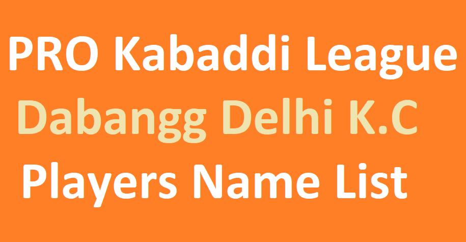 PKL Dabangg Delhi Squad 2021