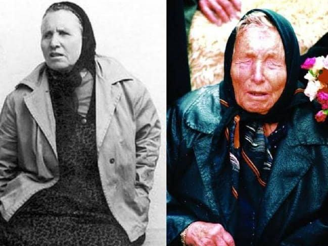 A younger Baba Vanga in an undated photograph left and as she looked in the last years of her lifeSource Supplied.jpg