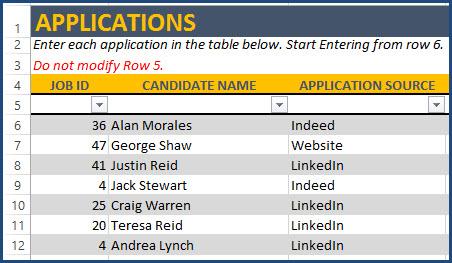 Recruitment Tracking Tool Excel Templates  recruitment