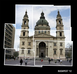 Budapest cathedral collage