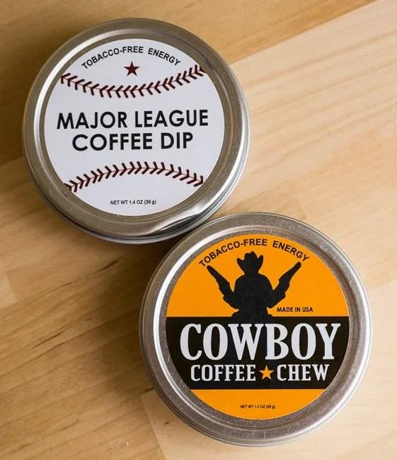 Chew Coffee Major League Coffee Dip and Cowboy Coffee Chew