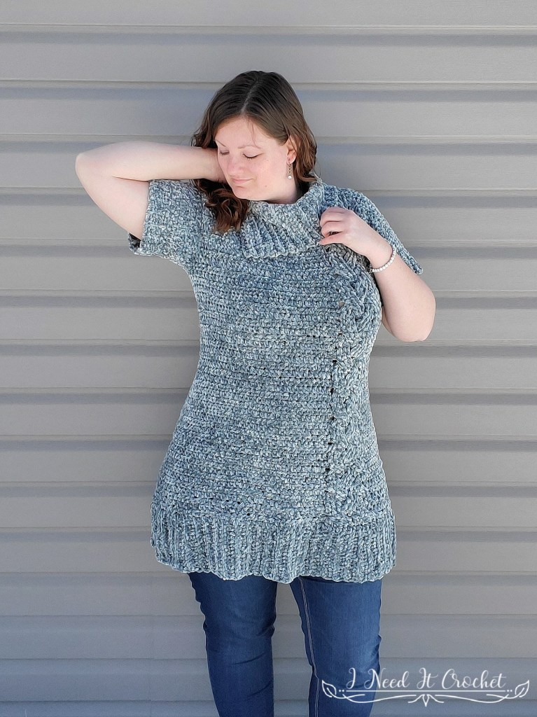 The Cozy Cabled Sweater Dress - Free Crochet Pattern