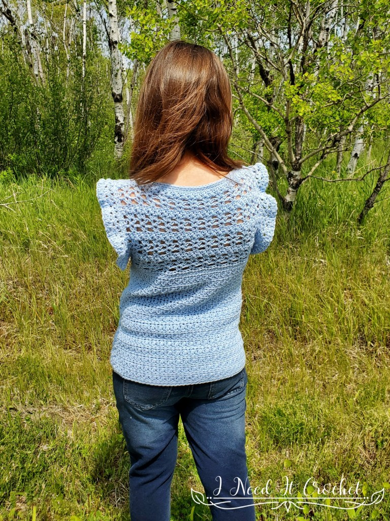 All A Flutter (Child/Youth) - Free Crochet Top Pattern