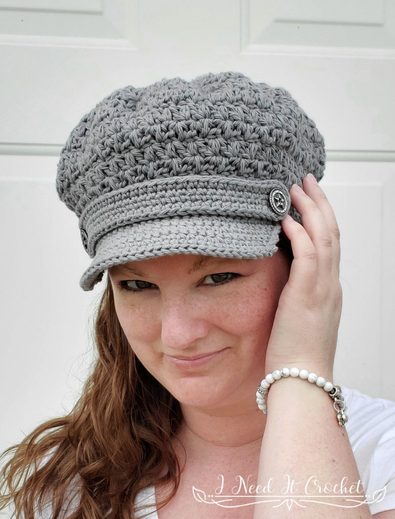 Mixed Cluster Newsboy - Free Crochet Hat Pattern