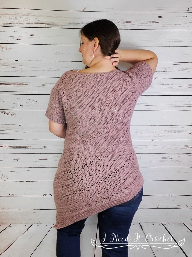 The Tilted Tunic - Free Crochet Sweater Pattern