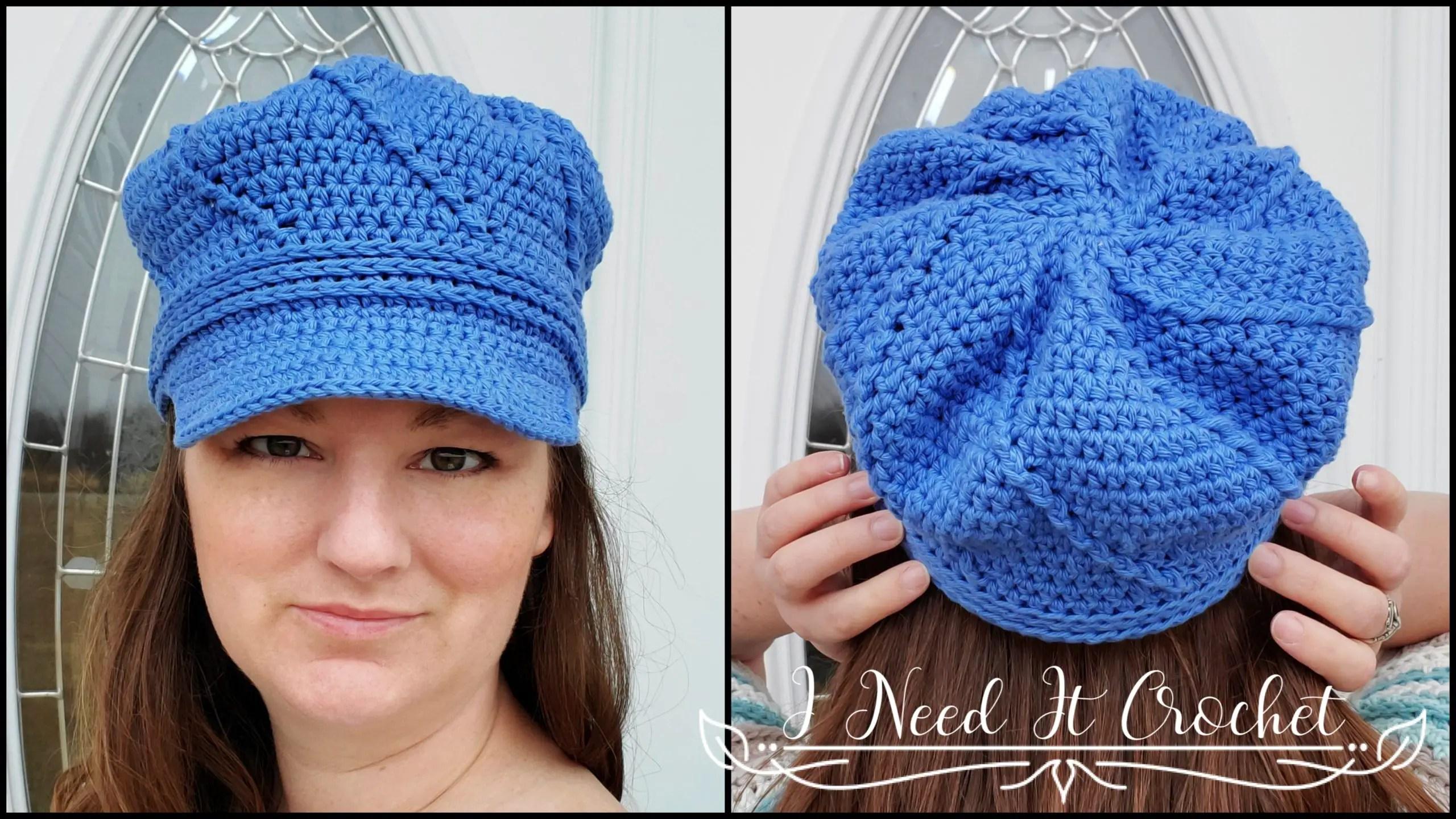 Twisted Newsboy - Free Crochet Hat Pattern