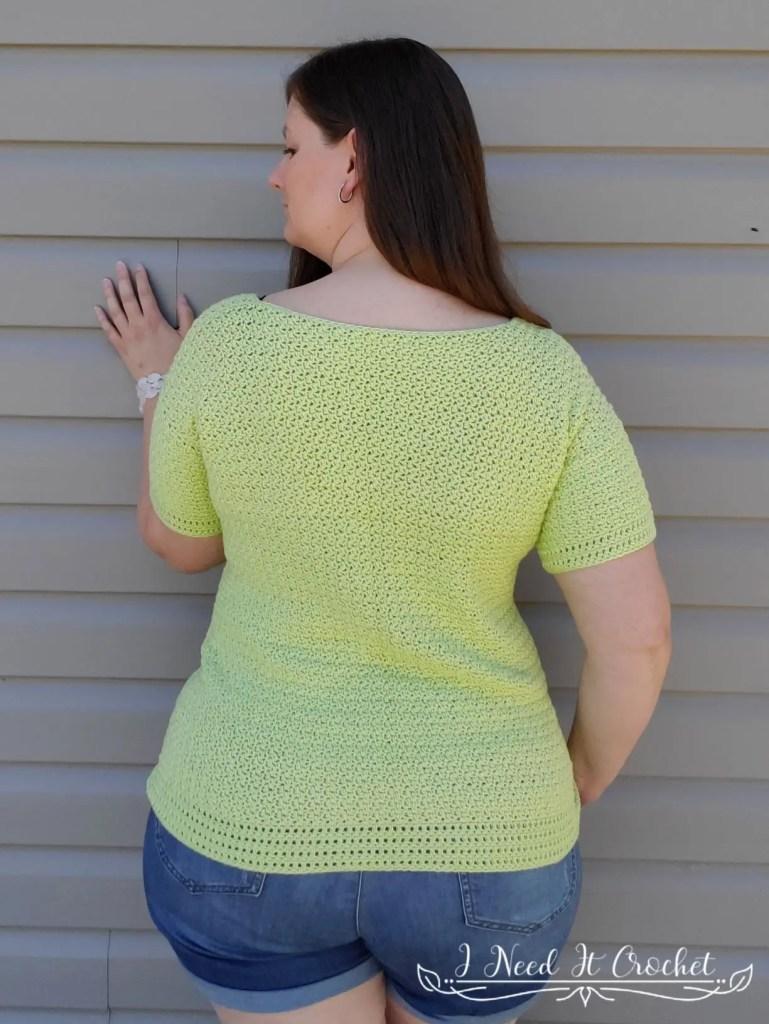 Double Scoop Summer Tee - Free Crochet Pattern