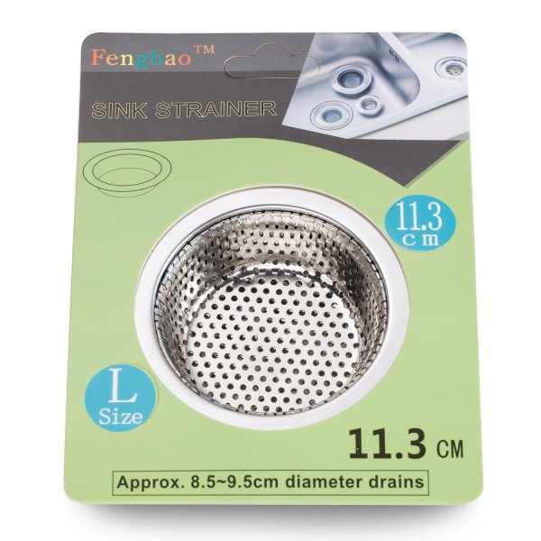 """2PCS Stainless-Steel Kitchen Sink Strainer 2PCS Stainless-Steel Kitchen Sink Strainer - Large Wide Rim 4.5"""" Diameter - Perfect for Kitchen Sinks (Large) - Fengbao."""