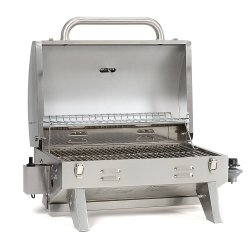 """Smoke Hollow 205 Stainless Steel Smoke Hollow 205 Stainless Steel, Portable TableTop Propane Gas Grill. Perfect for Camping, Tailgating, Picnics or any outdoor use. 305 sq inches of Cooking Surface 11.25""""x 18.5"""" With warming rack."""