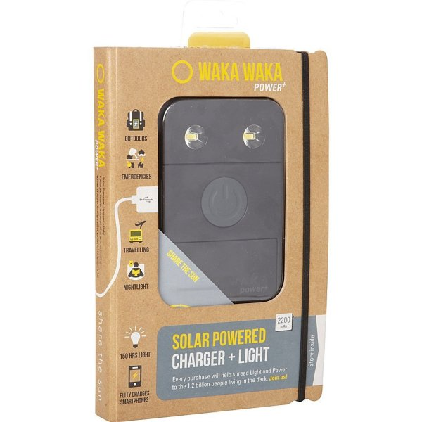 Solar-Powered Flashlight + Charger WakaWaka Power+ Solar-Powered Flashlight + Charger - 2200mAh.