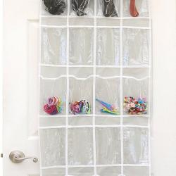 Clear Over the Door Hanging Shoe Organizer
