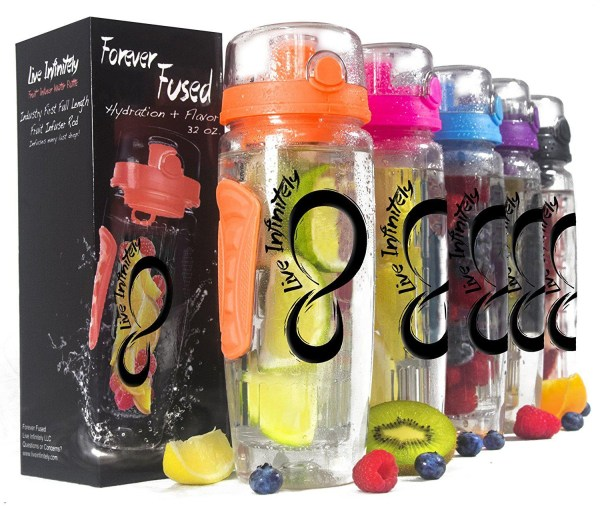 Live Infinitely 32 oz. Infuser Water Bottles Live Infinitely 32 oz. Infuser Water Bottles - Featuring a Full Length Infusion Rod, Flip Top Lid, Dual Hand Grips & Recipe Ebook Gift