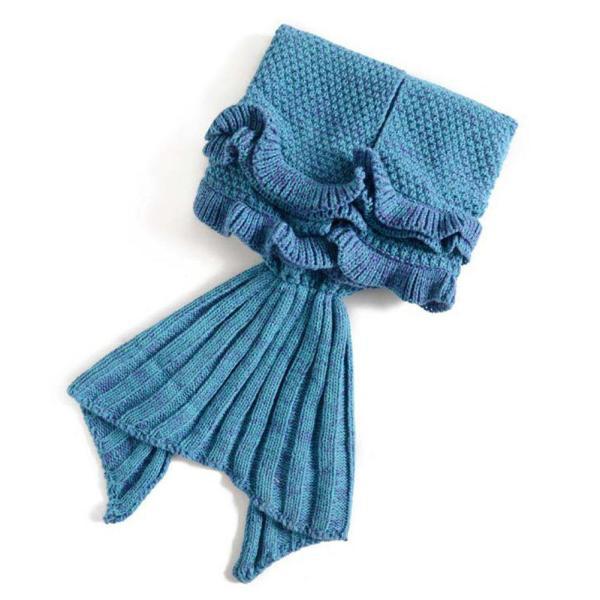 Mermaid Tail Blanket for Kids Mermaid Tail Blanket for Kids, Hand Crochet Snuggle Mermaid,All Seasons Seatail Sleeping Bag Blanket by Jr.White.