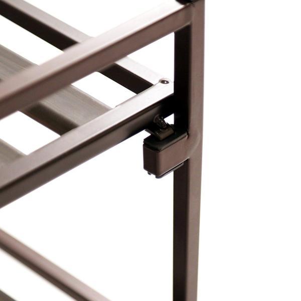 Seville Classics 2-Tier Resin Slat Utility Shoe Rack