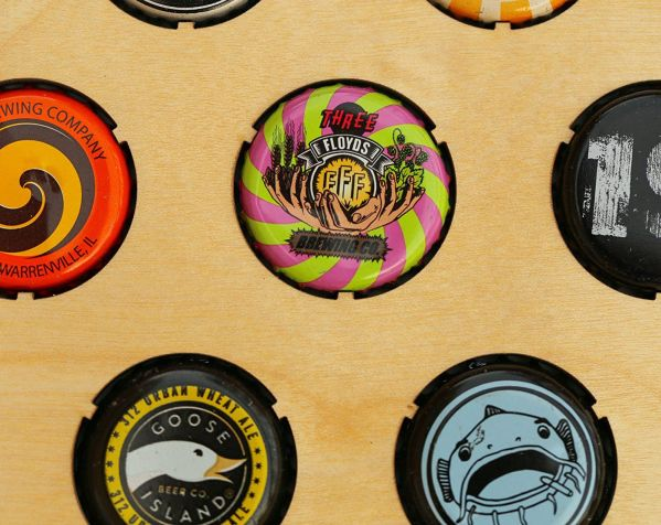 All 50 States Beer Cap Maps