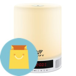 Light Night Bedside Lamp, SAVFY Bluetooth Speaker Light Night Bedside Lamp, SAVFY Bluetooth Speaker with LED Touch Sensor and Alarm Clock, Hands-Free Speakerphone with Mic, Best Gift for Men Women Teens Kids Children Sleeping Aid White.