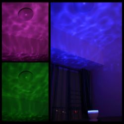 Ocean Wave Night Light Ocean Wave Night Light, Elecstars-Music Player Multicolor Led bulbs Projection Lamp, Romance and Relax soothing Effect, Bedroom Room Night Light, Best Gift for Kids girl Children Sleeping Aid.