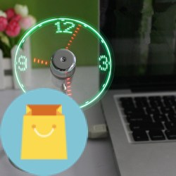 OnetwoUSB LED Clock Fan with Real Time Display Function OnetwoUSB LED Clock Fan with Real Time Display Function, USB CLOCK FAN.