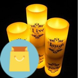 Set of 3 Flickering Flameless Candles With Remote Control