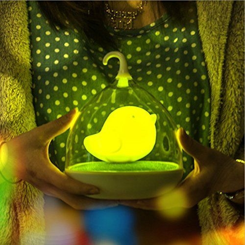 USB Charging Creative Birdcage Decorative Lights Krismile New Arrival Kids Bedroom Lovely Country Feel USB Charging Creative Birdcage Decorative Lights, Touch sensing Nightlight Baby Sleep Lights.