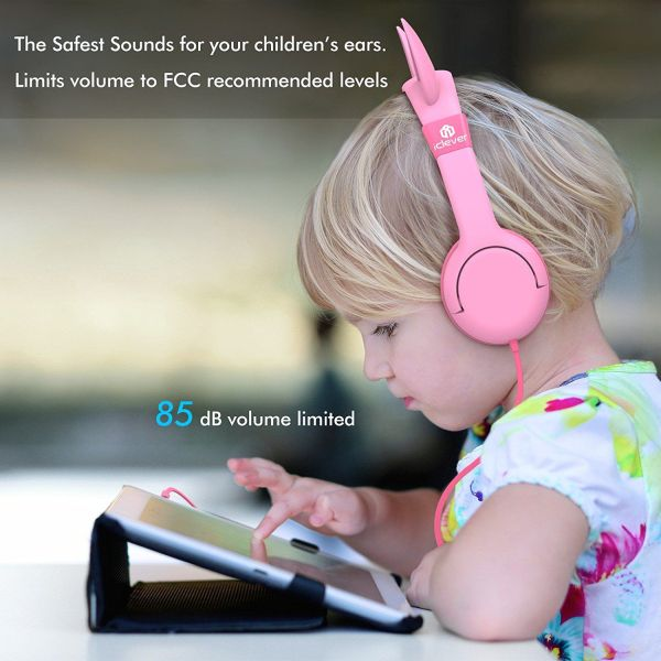 iClever BoostCare Kids Headphones Cat-inspired