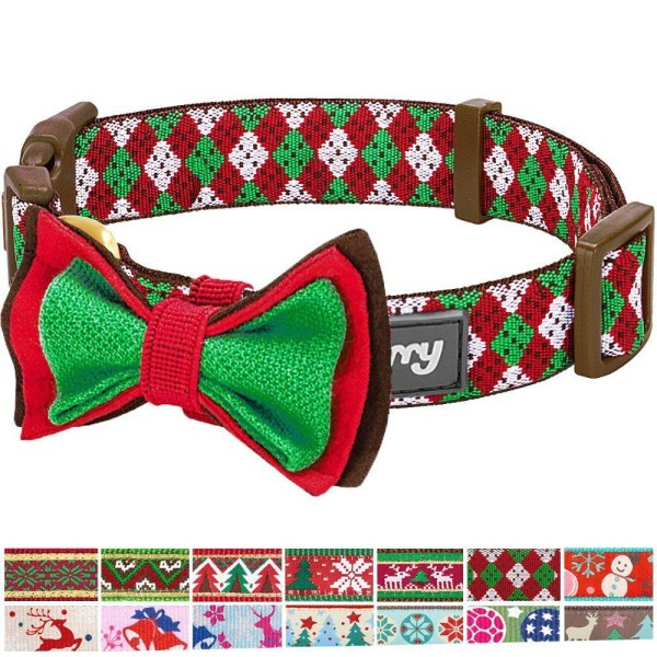 Blueberry Pet 14 Patterns Christmas Holiday Season Dog Collars