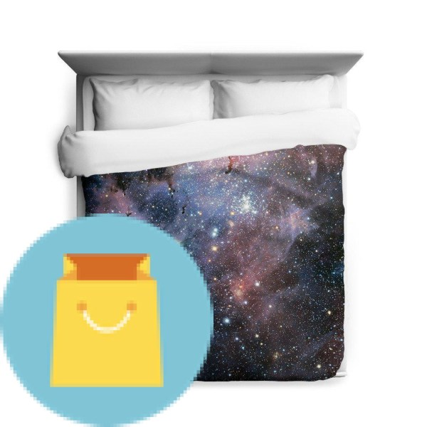 Carina Nebula Space Full Duvet Cover Galaxy Bedding from Outer Space with Stars