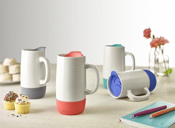 Ello Jane Ceramic Travel Mug with Spill-Resistant Slider Lid