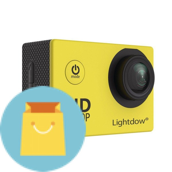 Lightdow 1080P HD Sports Action Camera Bundle