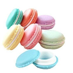Pack of 6 Mini Macaron Shaped, Storage Box Pill