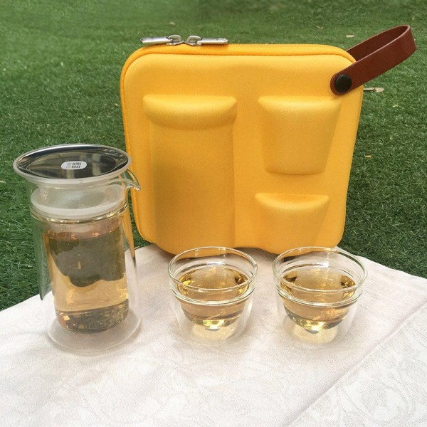 ZENS Portable Tea Set, 2 Travel Tea Cups