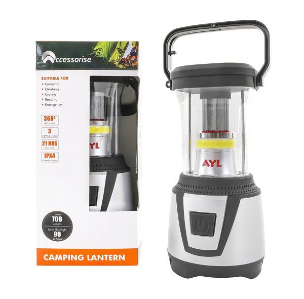 AYL Starlight Water Resistant 360 Degree LED Lantern AYL Starlight DL790 Water Resistant 360 Degree LED Lantern plus Flashlight, For Camping, Emergency, Backpacking, Hiking, Outdoor Adventures.